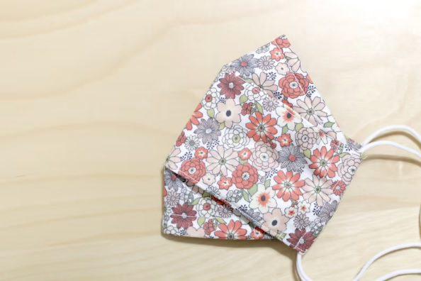 vintage style floral origami mask