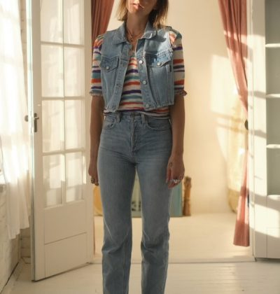 get emma chamberlain vibes wearing these denim vest tops