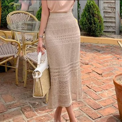 knit skirt style inspo as inspired by Emma Chamberlain