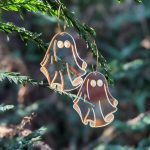 iridescent ghost earrings // PoppyandHoneyBee